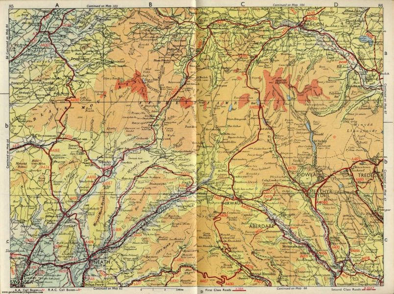 Map of Black Mountains and Brecon Beacons 1963 jpg  2000    1492     Map of Black Mountains and Brecon Beacons 1963 jpg  2000    1492