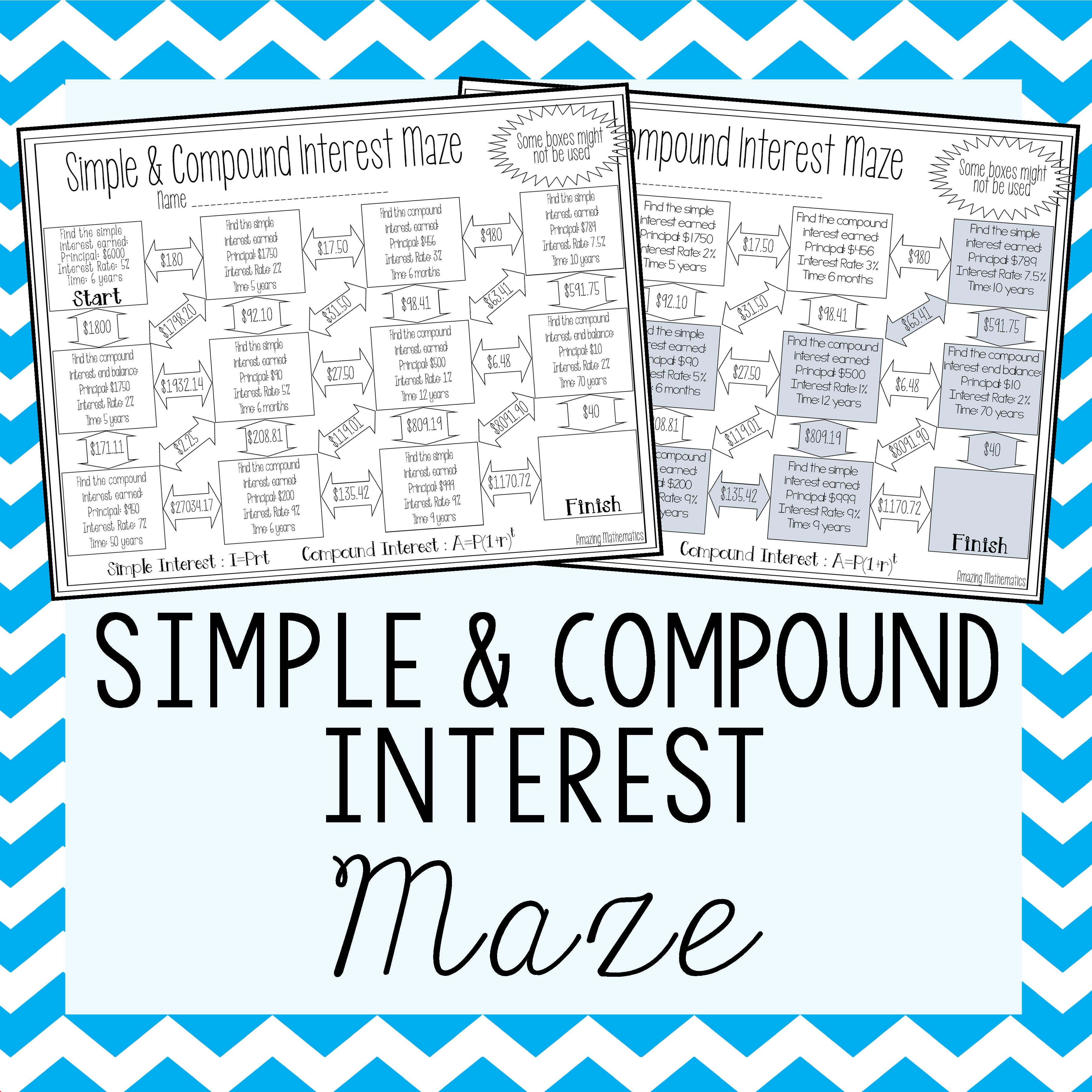 Simple Amp Compound Interest Maze