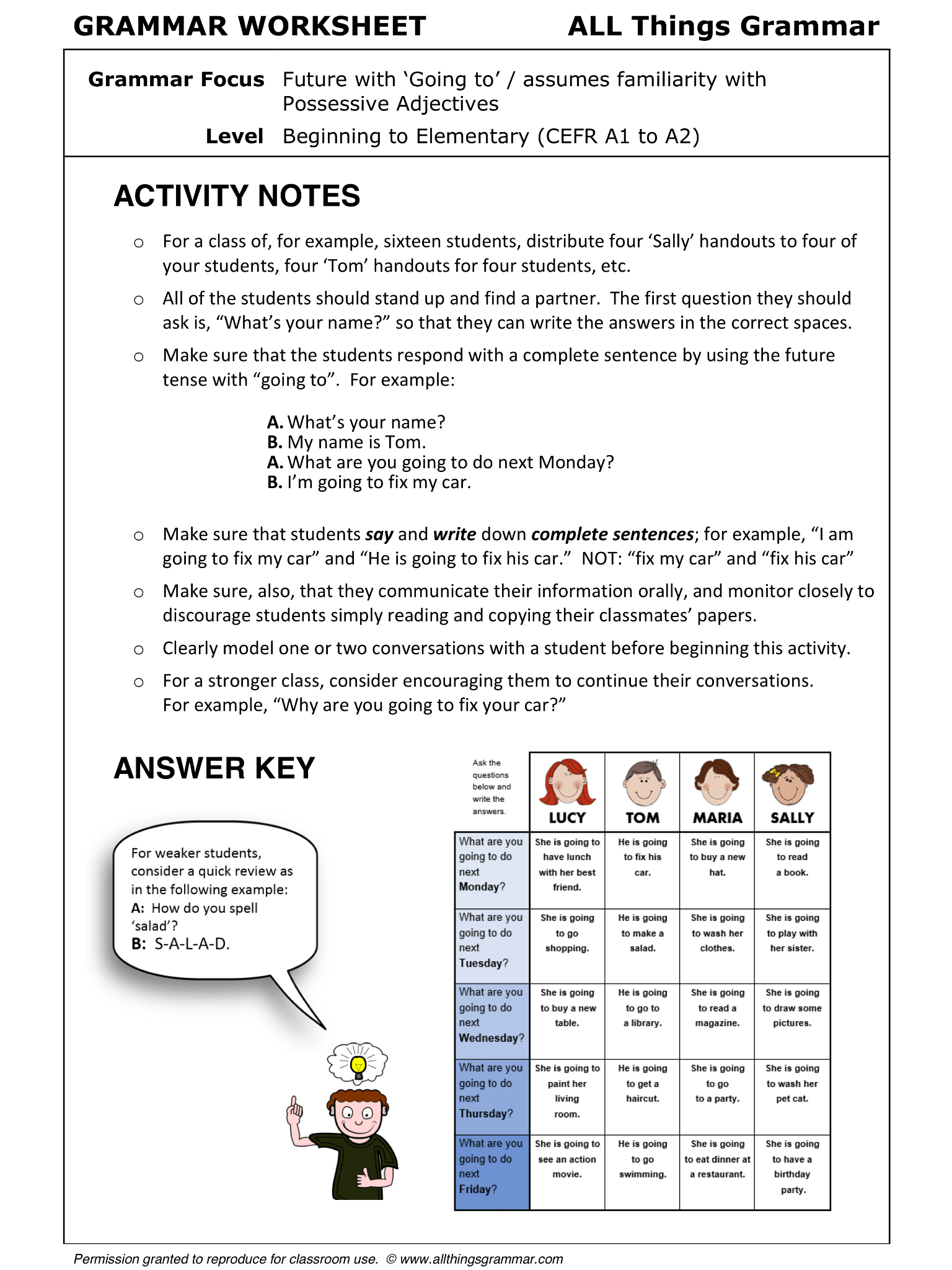 Information Gap Worksheet