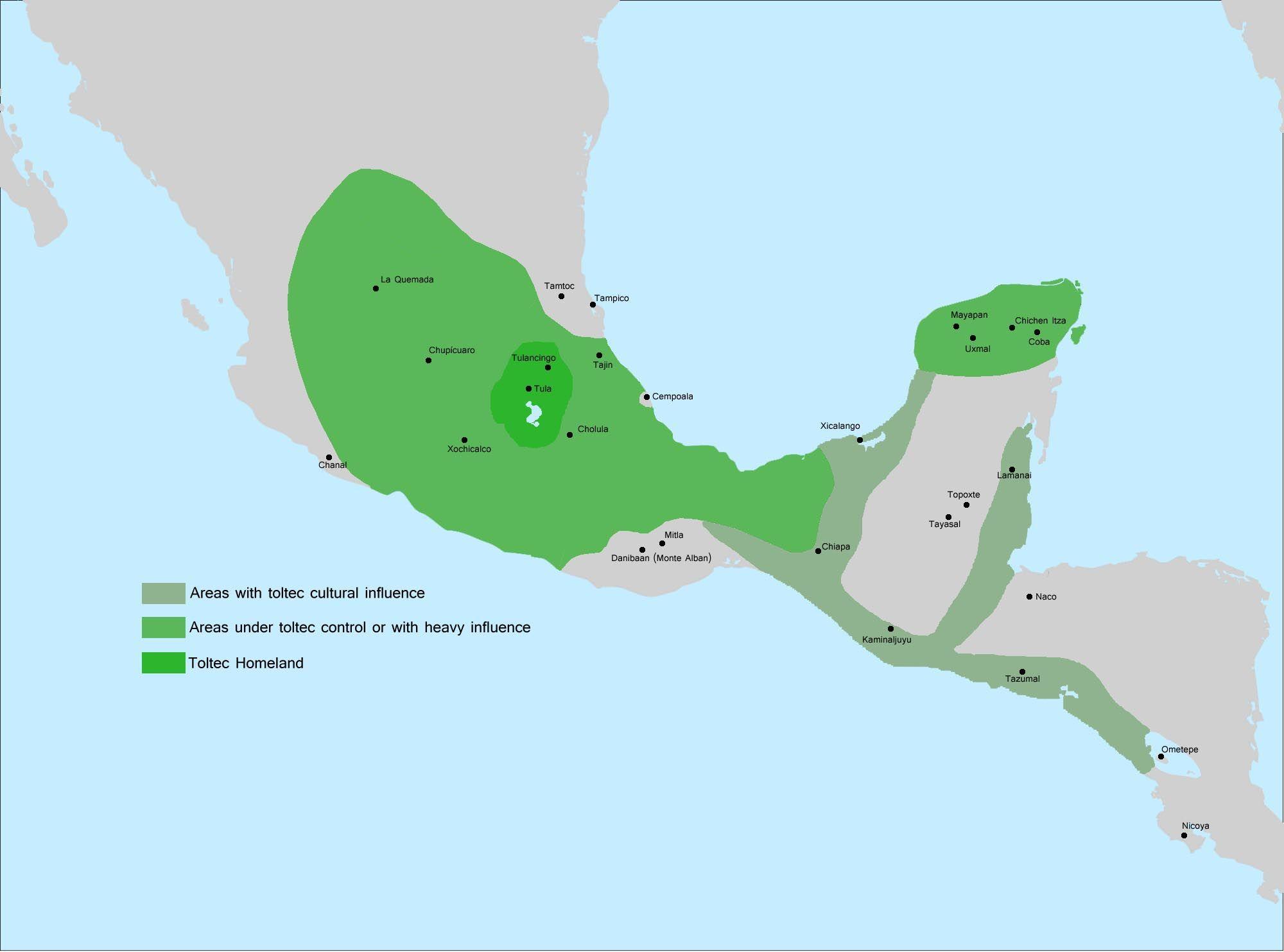 Mesoamerica Toltecs 900