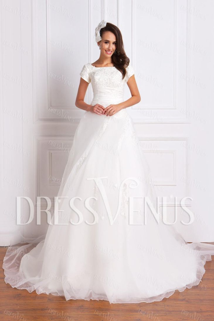 Luxurious AlinePrincess Square Wedding Dress Wedding Dresses