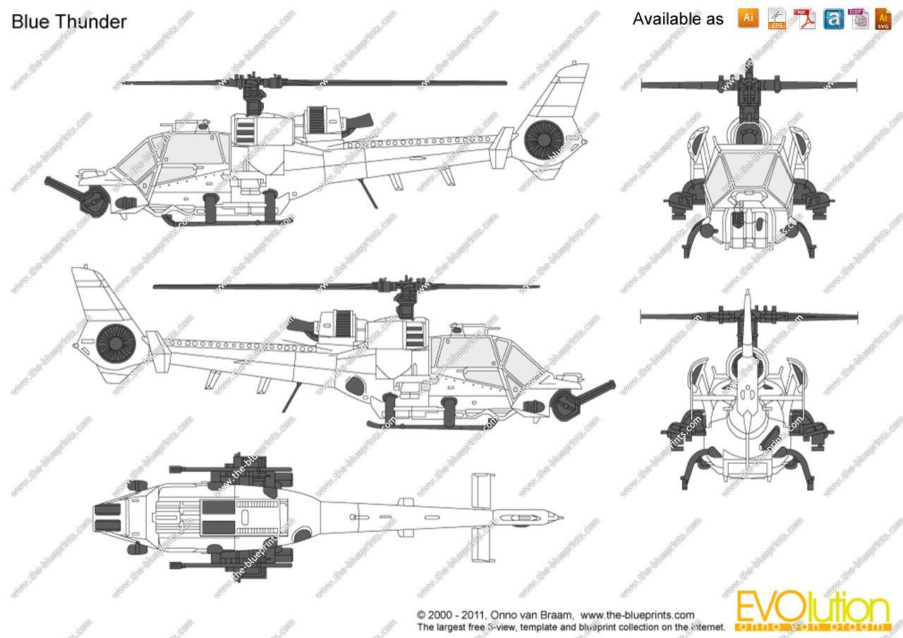 Blue Thunder Helicopter Blueprints