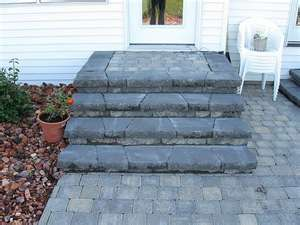 Back Door Steps to Patio Idea | Outside the House ... on Backdoor Patio Ideas id=82037