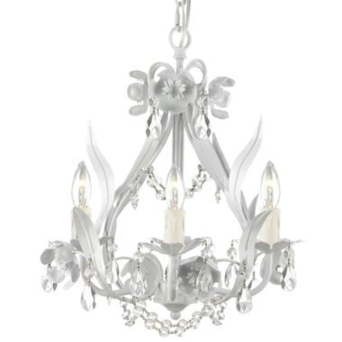 Gallery Fl 4 Light Wrought Iron Crystal Chandelier 99 Jcpenney