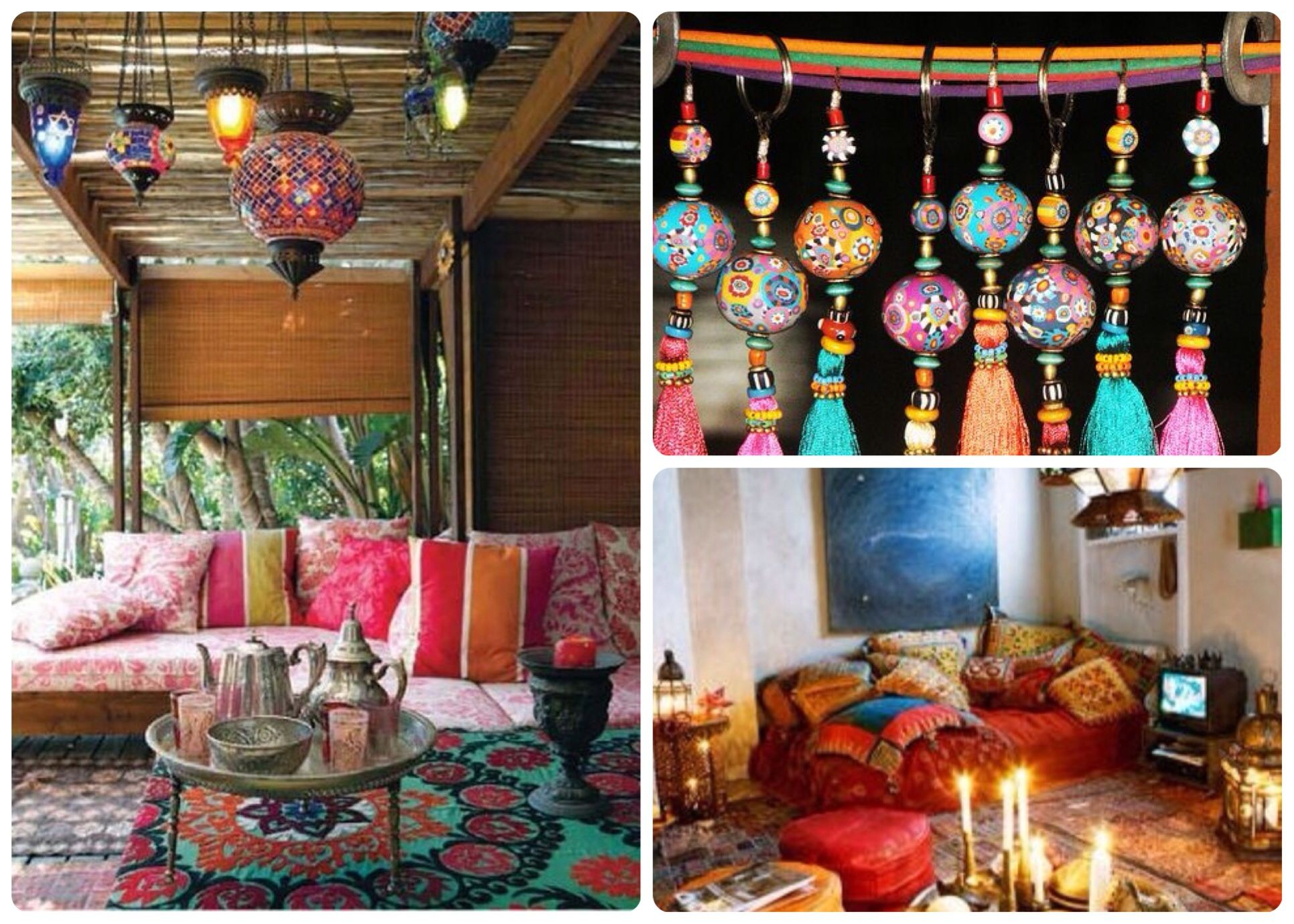 boho deco i love those hanging balls and tassels i d hang them all along the kitchen curtain on hippie kitchen ideas boho chic id=76331