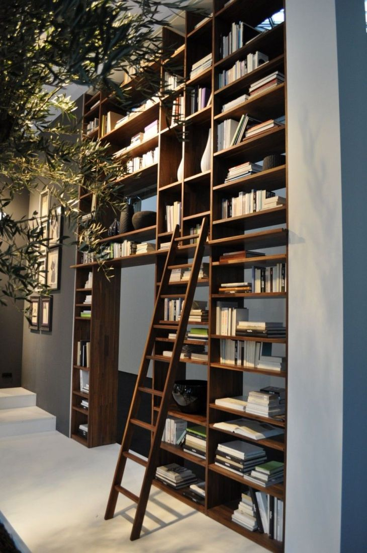 LIBRARY bookshelf with ladder Architecture Landscapes