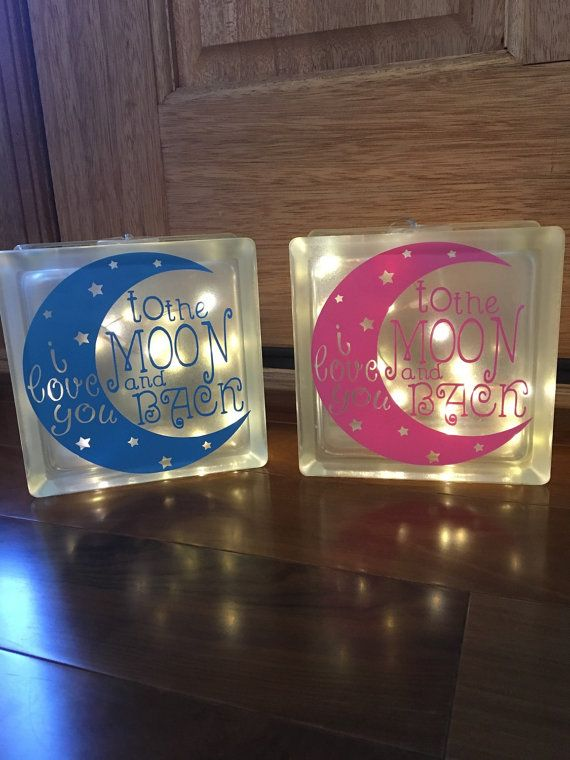 These beautiful frosted glass blocks are a perfect gift ...