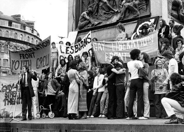 A Gay Liberation Front rally in New York City, shortly ...