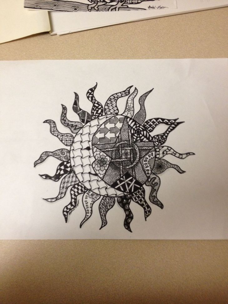 Zentangle sun moon and star  Zentangle ideas and tangles
