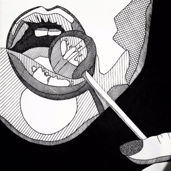 Lollipop Love Drawn by hand on mg art paper Material Pens