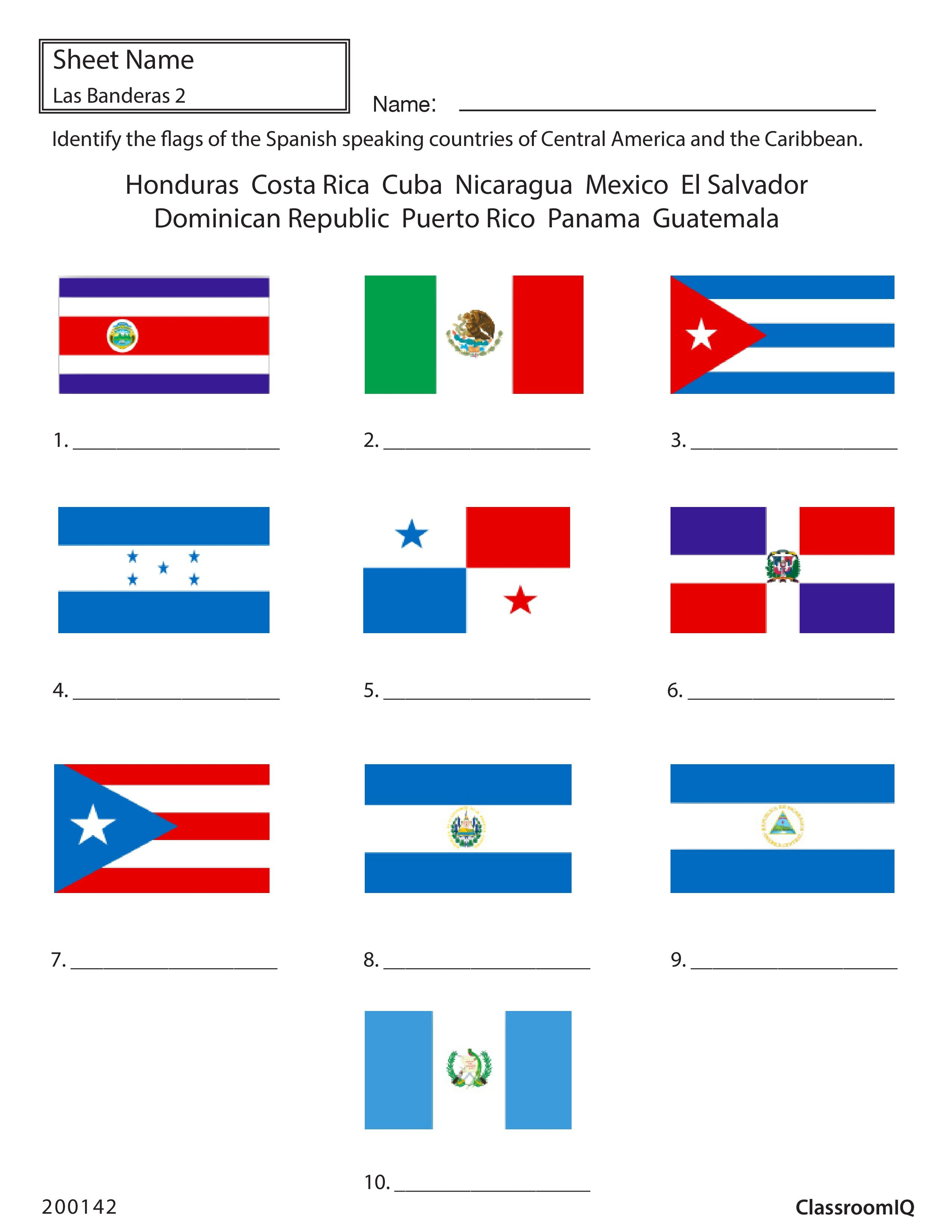 Identify Flags Of Spanish Speaking Countries