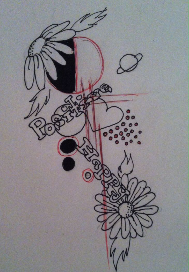 Abstract tattoo design first time doing a drawing like this My