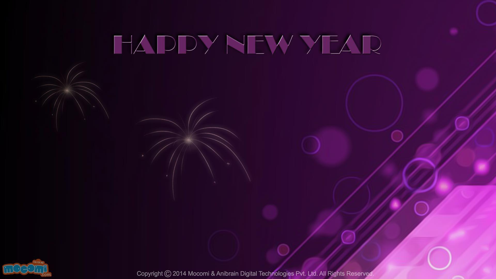 happy new year desktop background