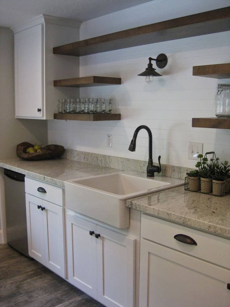 image result for kitchen with bottom cabinets and open shelves above kitchen pinterest on kitchen decor open shelves id=85185