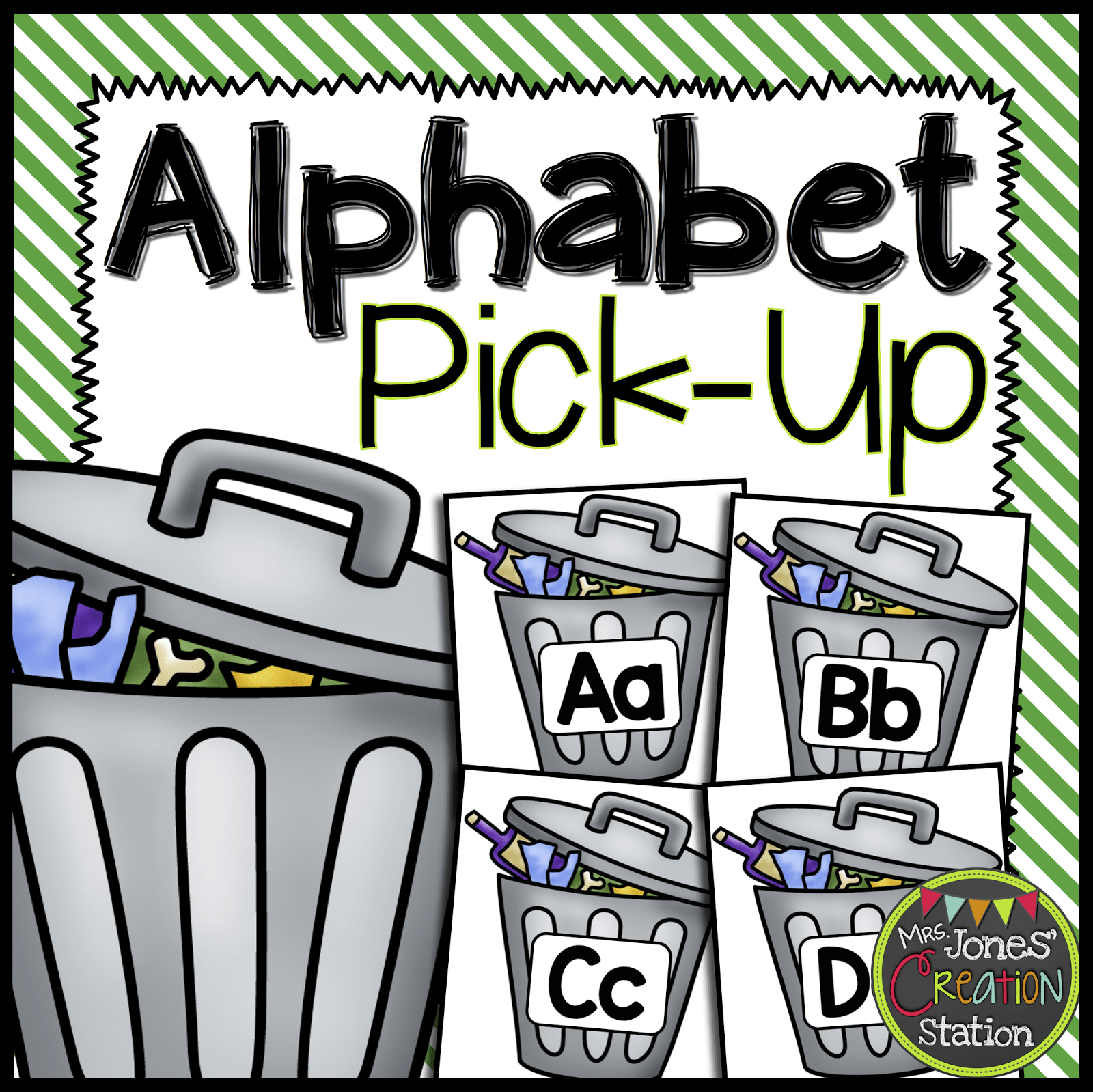 Alphabet Pick Up Earth Day Literacy Center