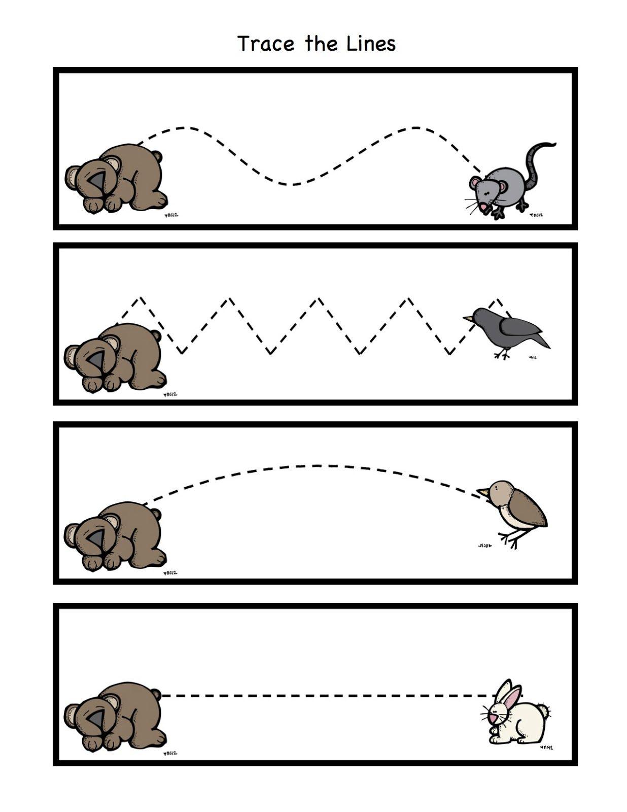 Preschool Printables Bear Snores Printable