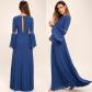 New luluus blue long sleeve maxi nwt beautiful long dresses long