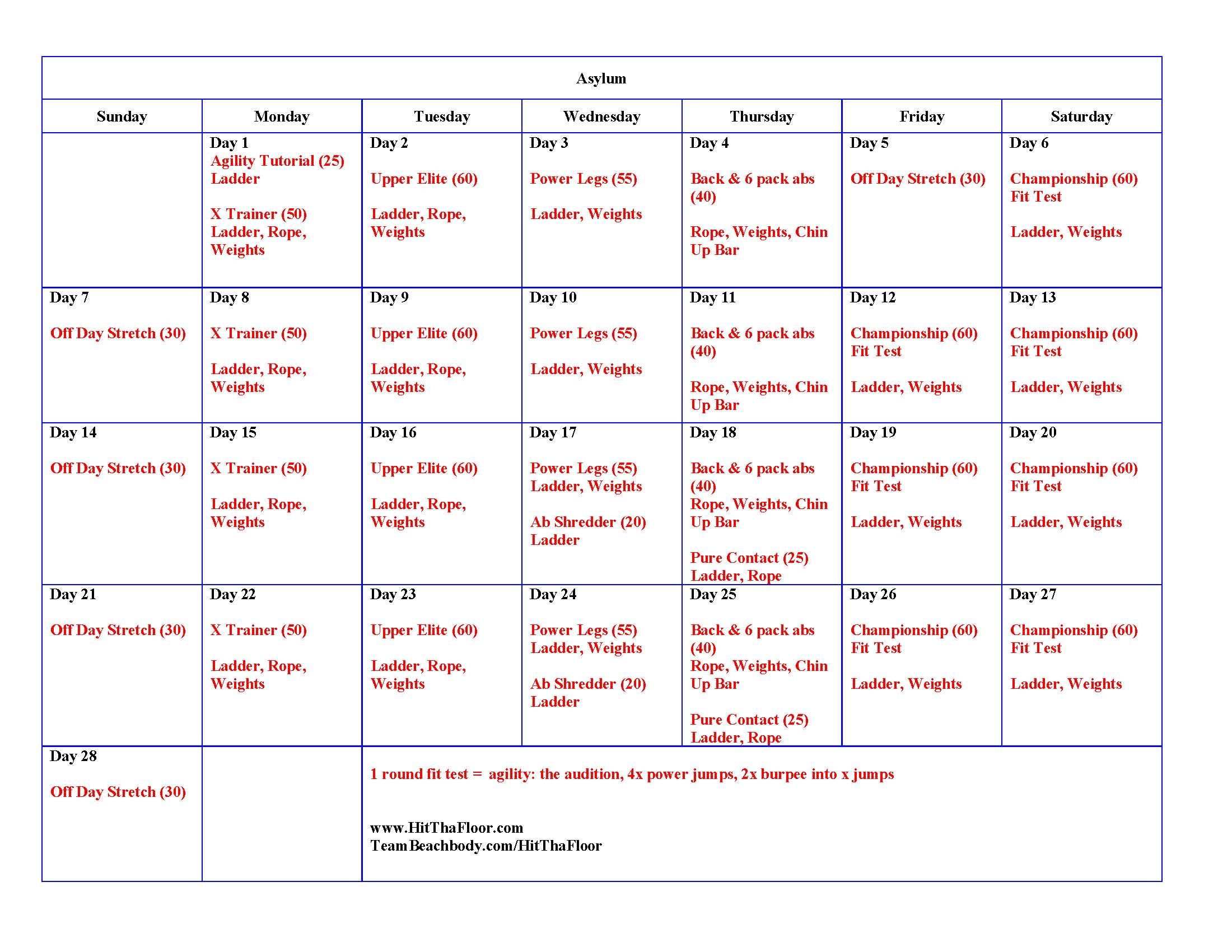 Asylum Volume 2 Calendar