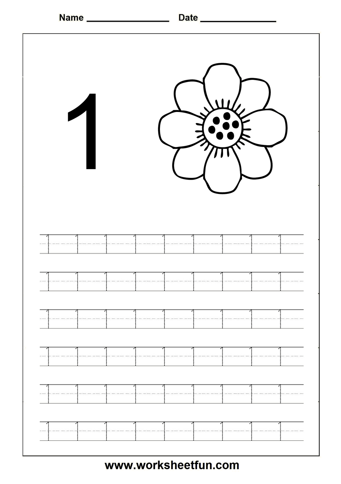 Preschool Number Tracing Worksheets 1 20 Free Worksheets Library