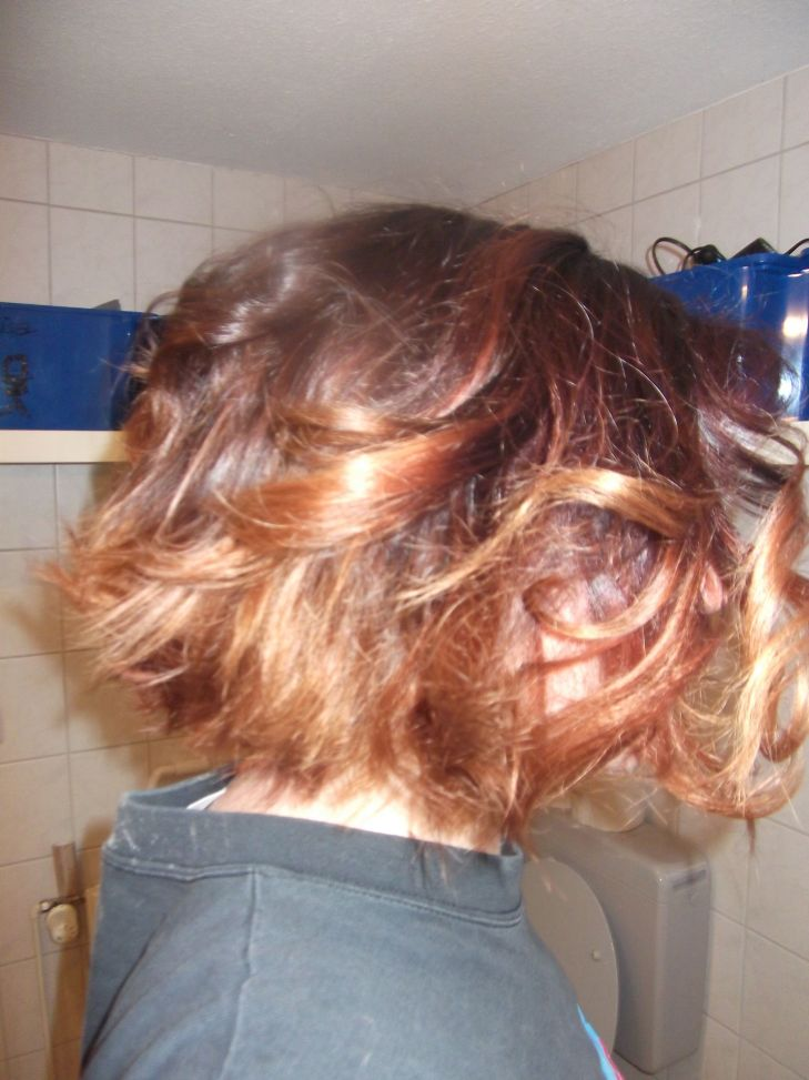 Ombre curls in short hair  hair  Pinterest  Short hair and Ombre