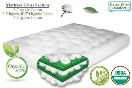 The Organic Cotton Plus Latex Futon Mattress From Is Most Natural Sleep Option At Affordable Price