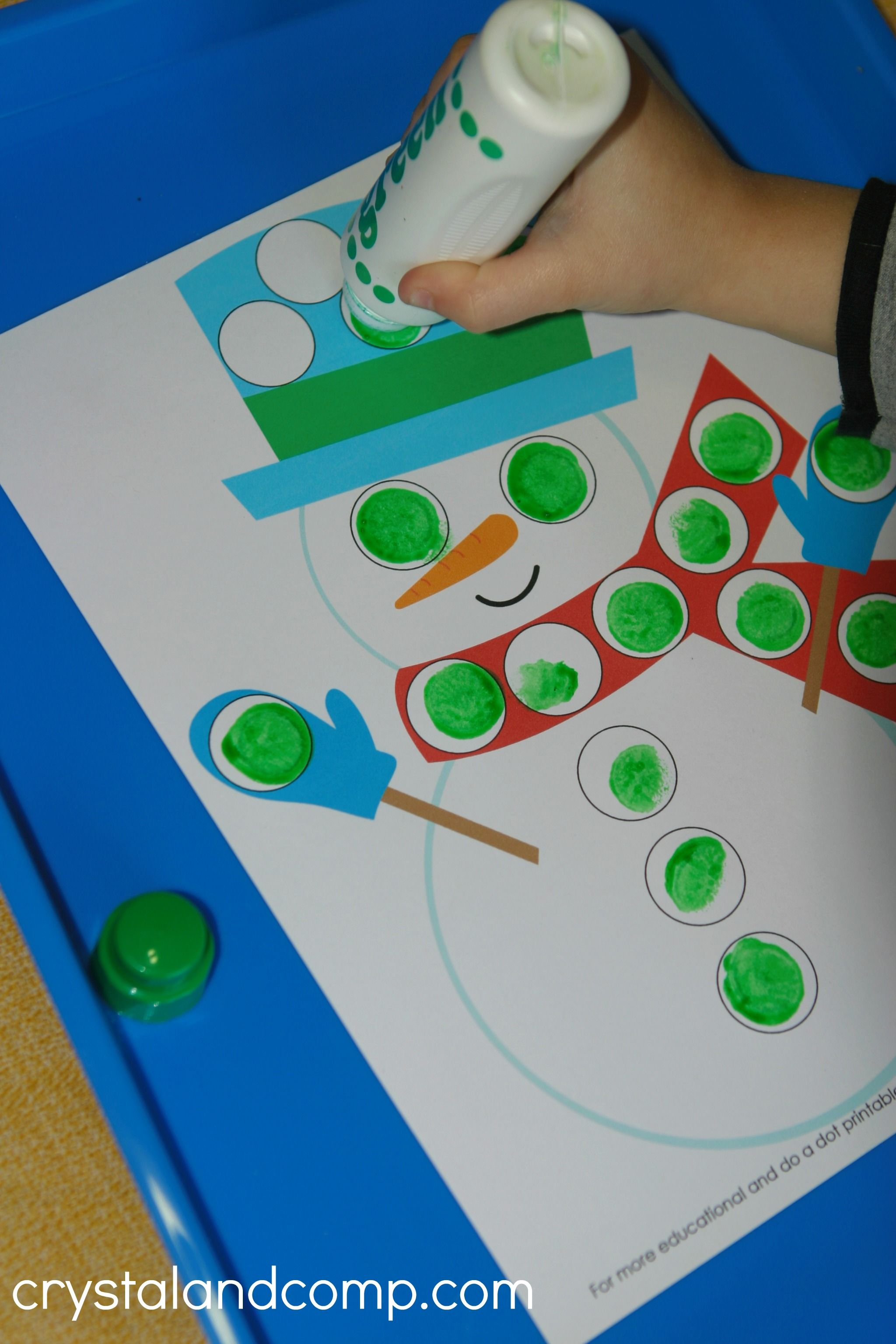 Snowman Do A Dot Printables For Preschoolers