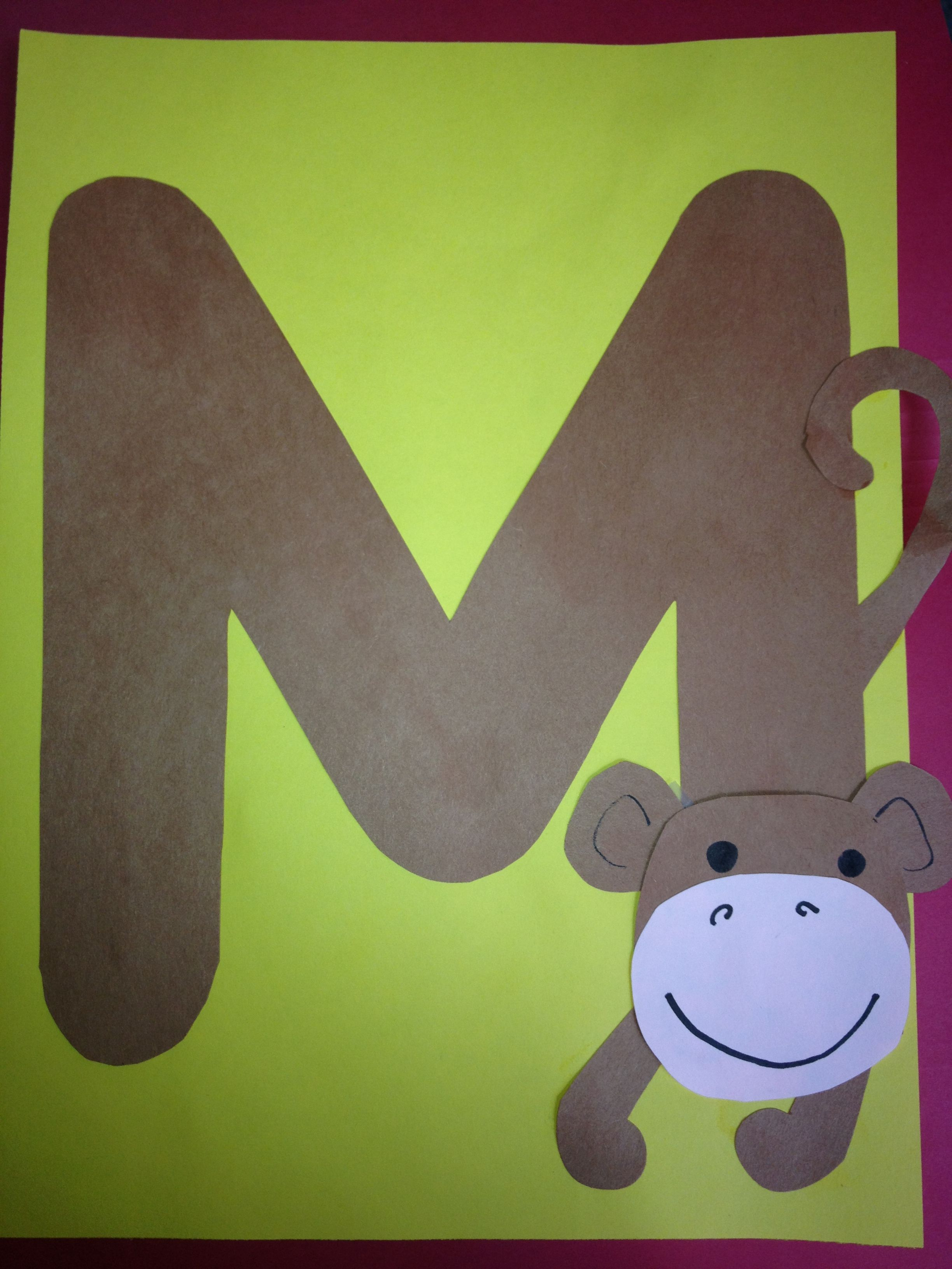 M Is For Monkey I Wish I Had This A Few Weeks Ago When We Did M