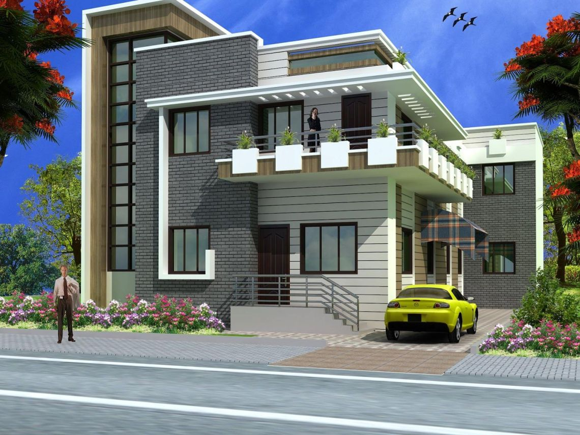 Top House Front Elevation Models   Zion Modern House