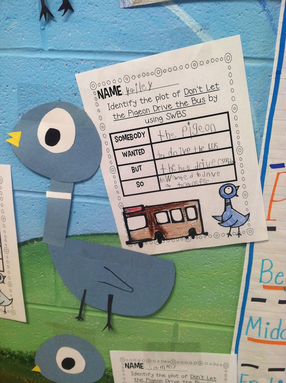 Life In First Grade Swbs Plot Of Don T Let The Pigeon