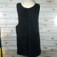 Vintage black suede overall dress black suede overall dress with