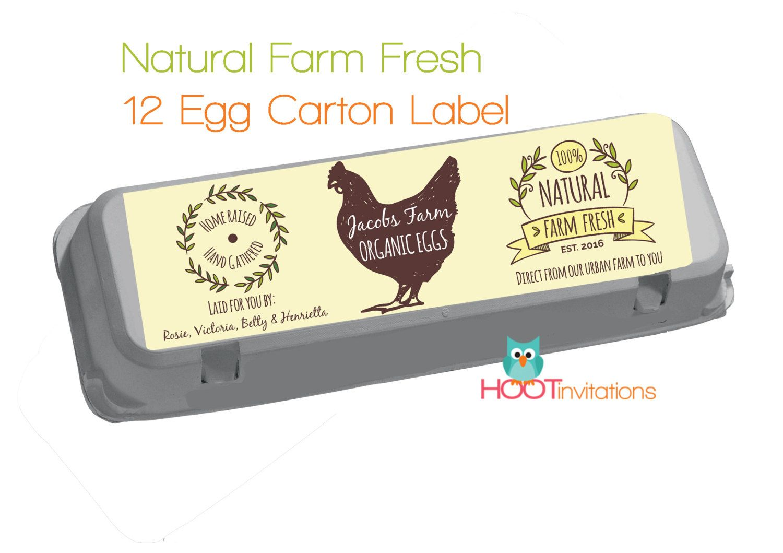 Custom Egg Carton Label