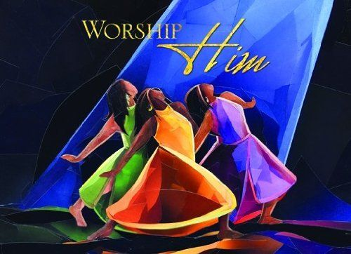 Worship Him African American Christmas Card Box Set Of 15