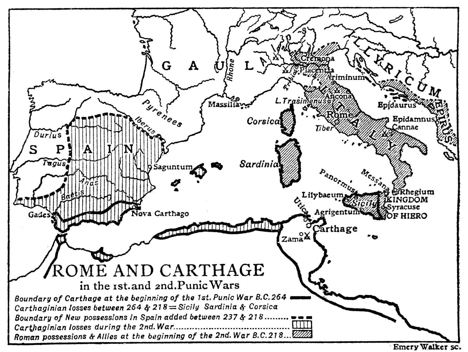 Week5 Map Of Rome And Carthage In The 1st And 2nd Punic Wars