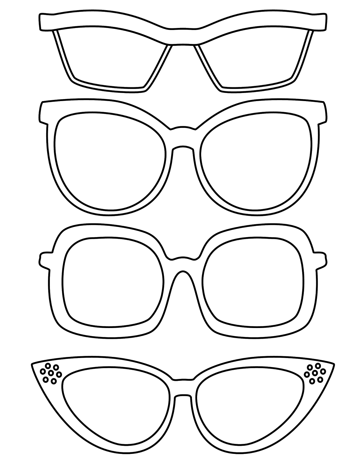 Summer Sunglasses Coloring Pages