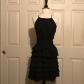 New forever black ruffle dress l new with tags forever dresses