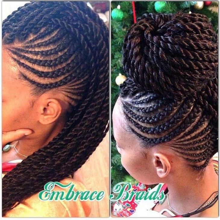 Embrace Braids Mo hawk down u up Hair Pinterest Hair style