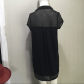 Silence noise black dress with mesh shoulders black and mesh dress