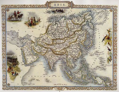 Pinterest 1800S MAP ASIA BIRDS INDIA RUSSIA CHINA VINTAGE POSTER REPRO 12 X 16