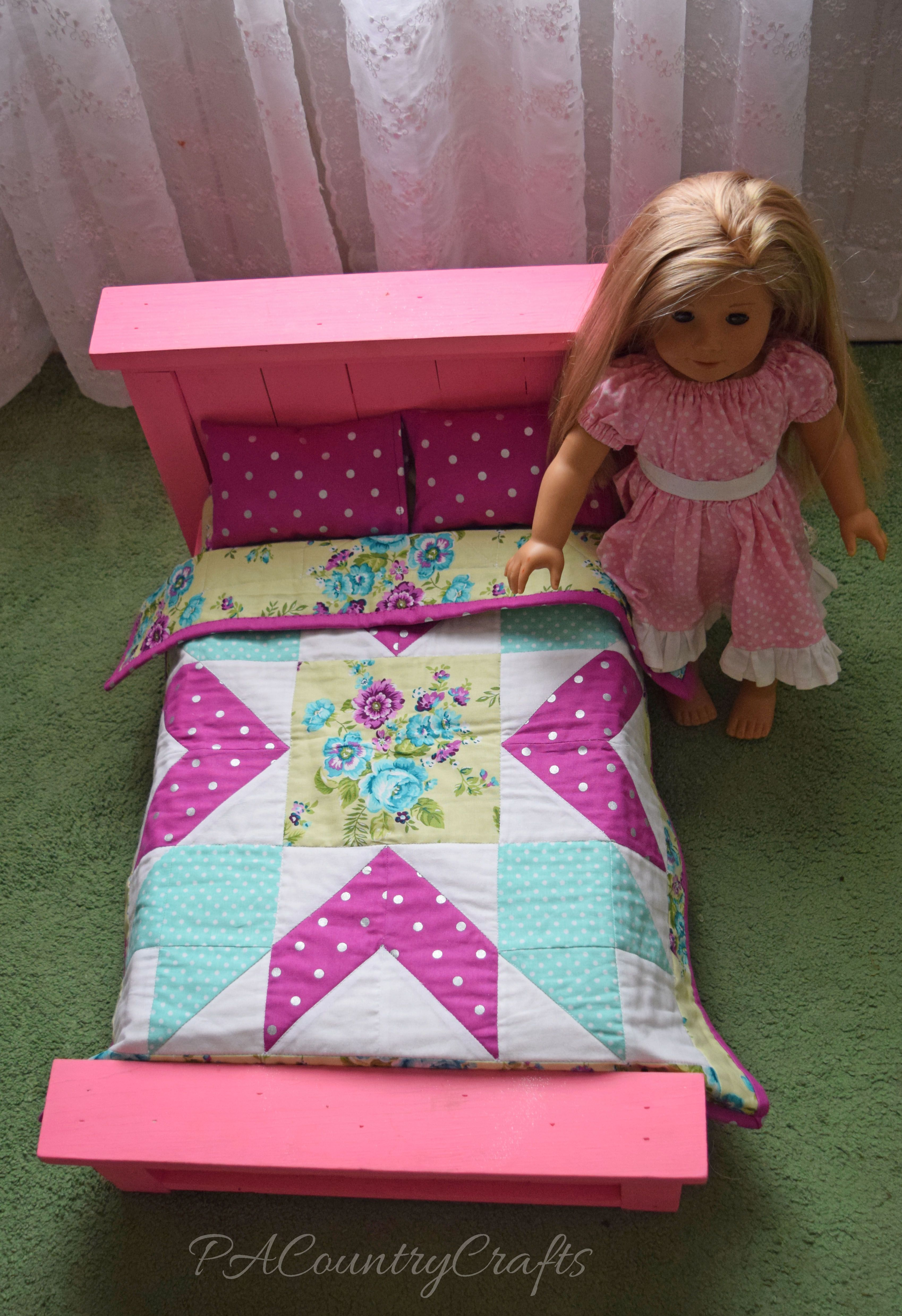American Girl Doll Bed And Quilt With Free Pattern