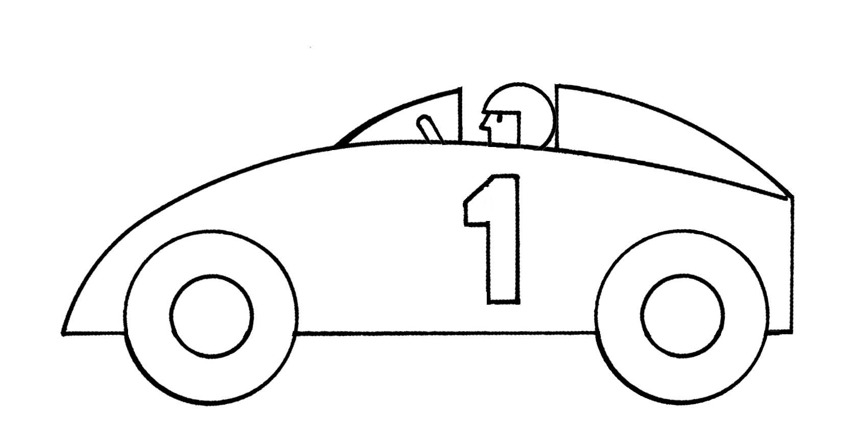 Racing Cars Clipart Black And White
