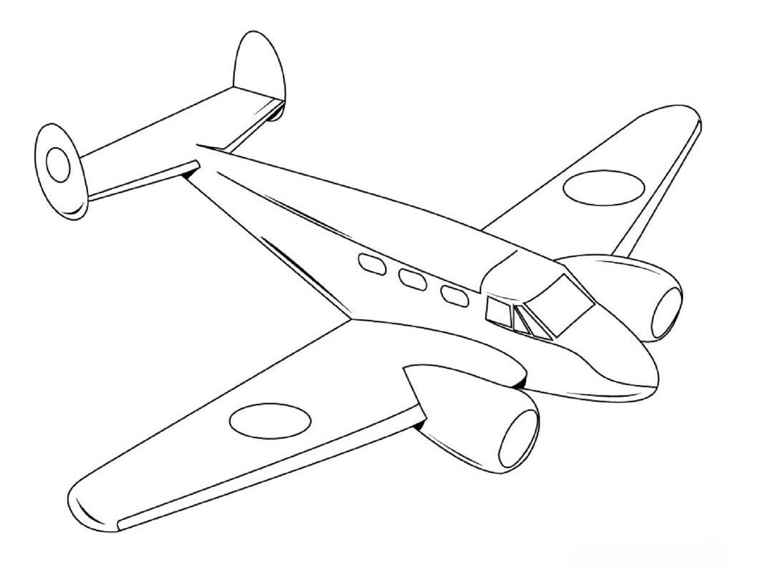 Planes Coloring Pages For Vehicle Coloring Fun