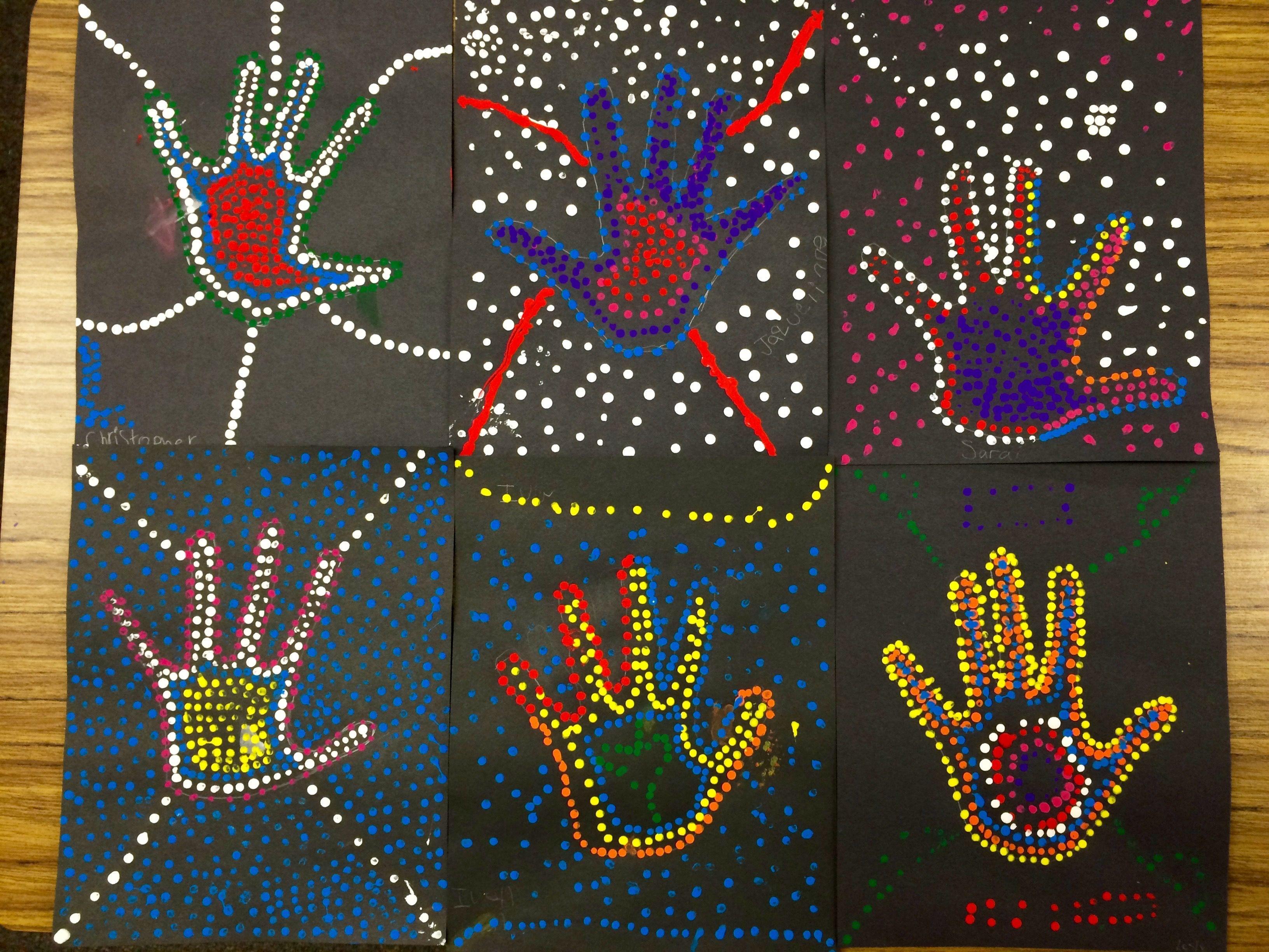 Aboriginal Dot Art By 2nd Grade