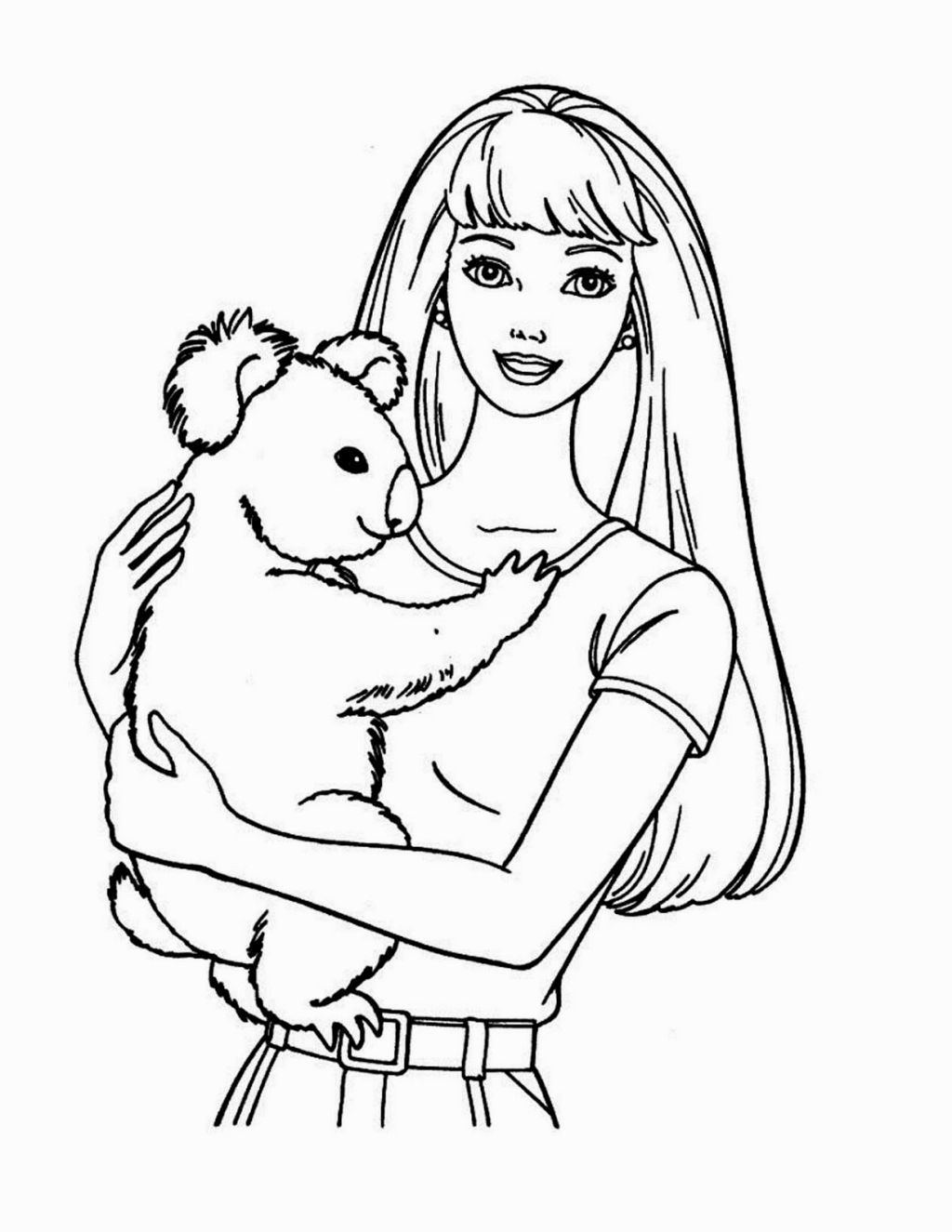 Barbie Coloring Pages The Doll Palace Coloring Page