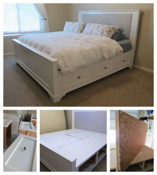 Bed Has 3 Drawers On Each Side And A Middle Storage Compartment With Piano Hinged Lids King Size
