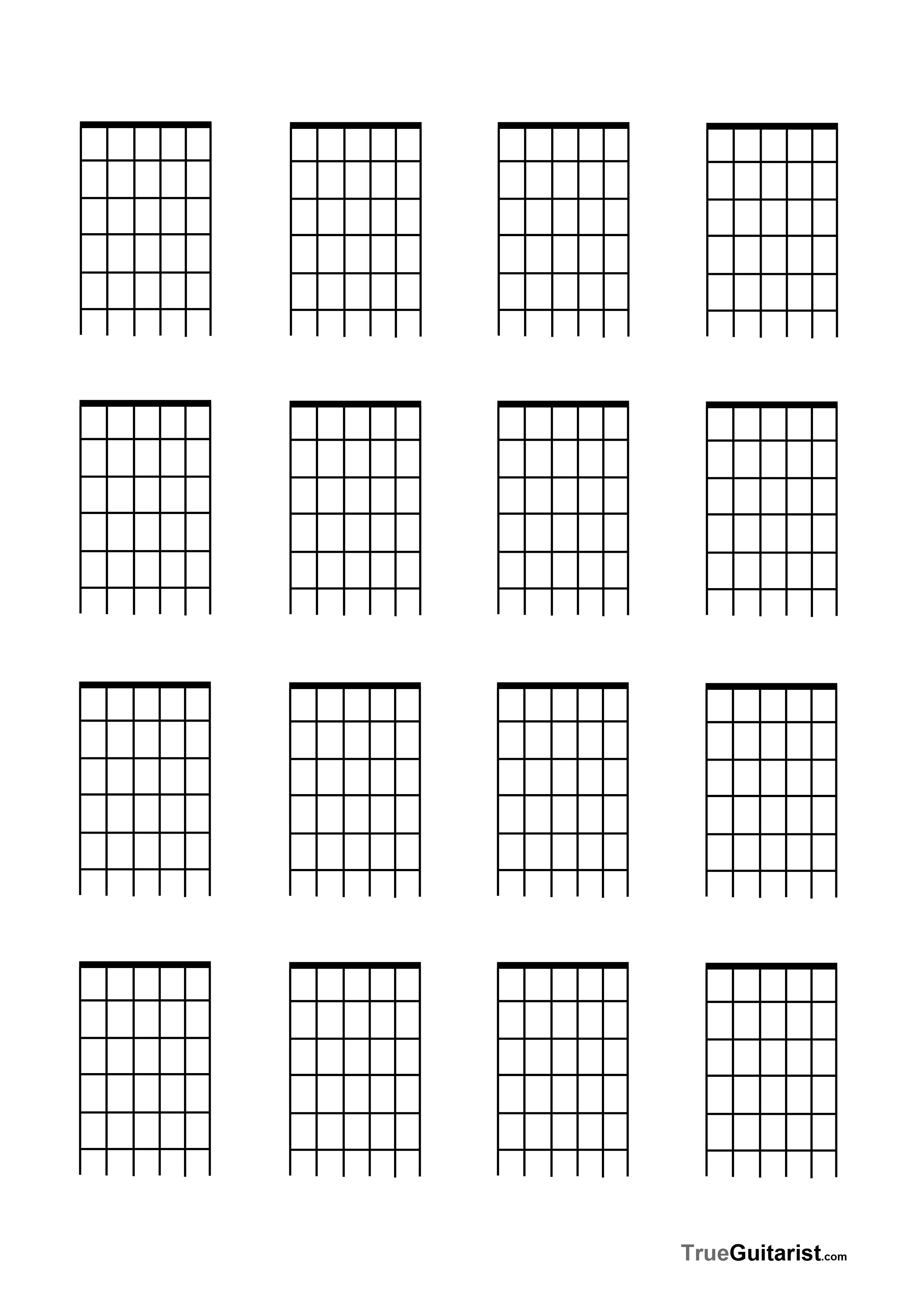 Blank Guitar Fretboard Diagramfree Blank Music Paper Templates Trueguitarist 0vysgrdm