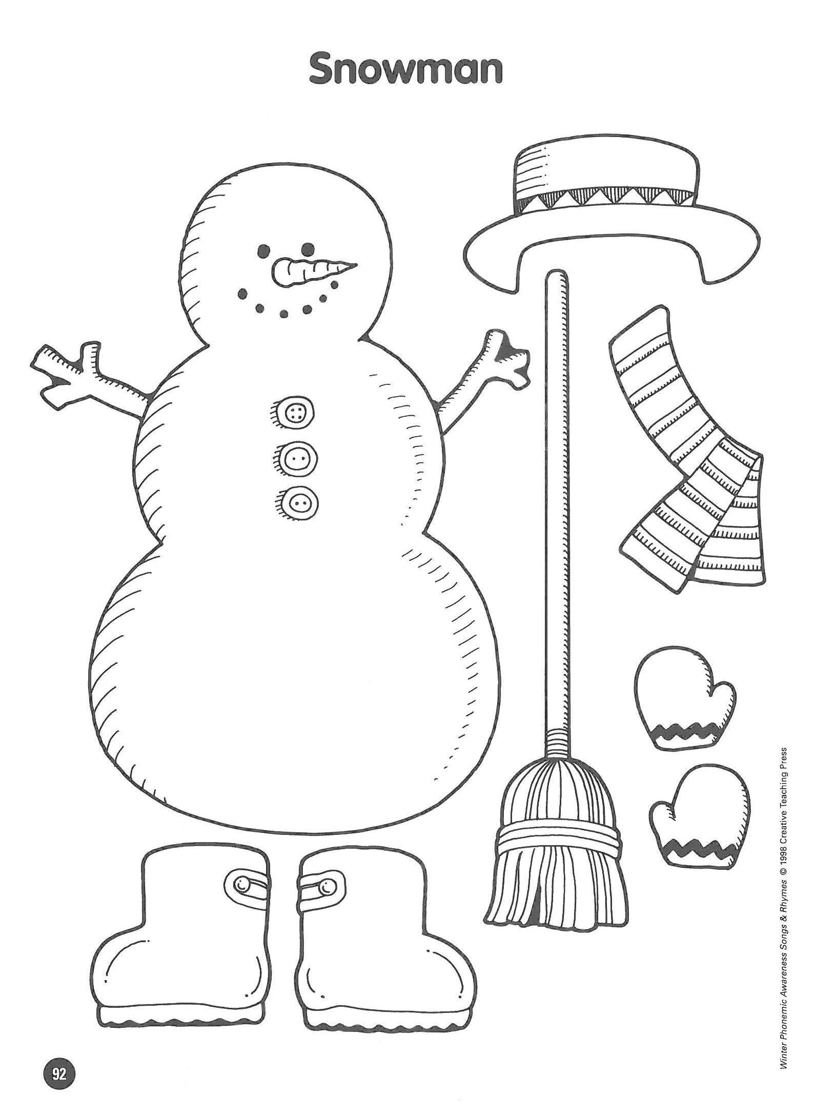 Free Activity Dress The Snowman