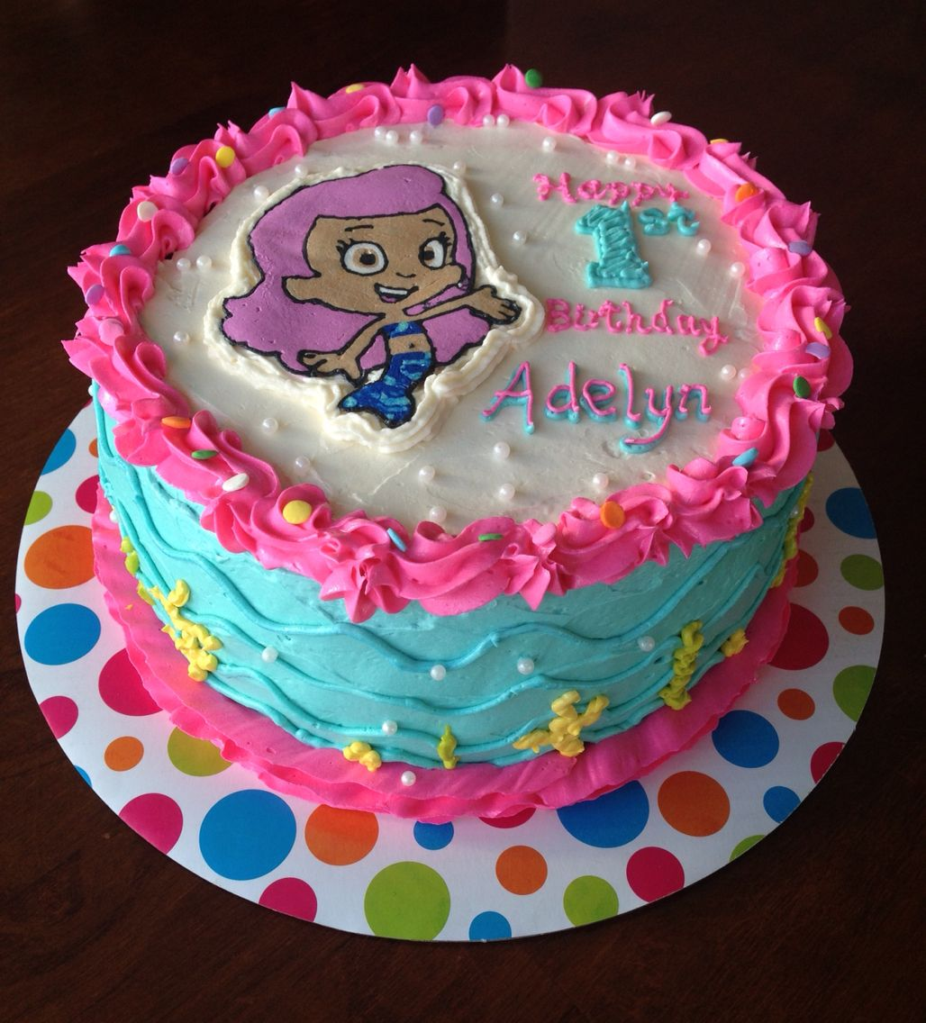 Bubble Guppies Molly Buttercream Cake