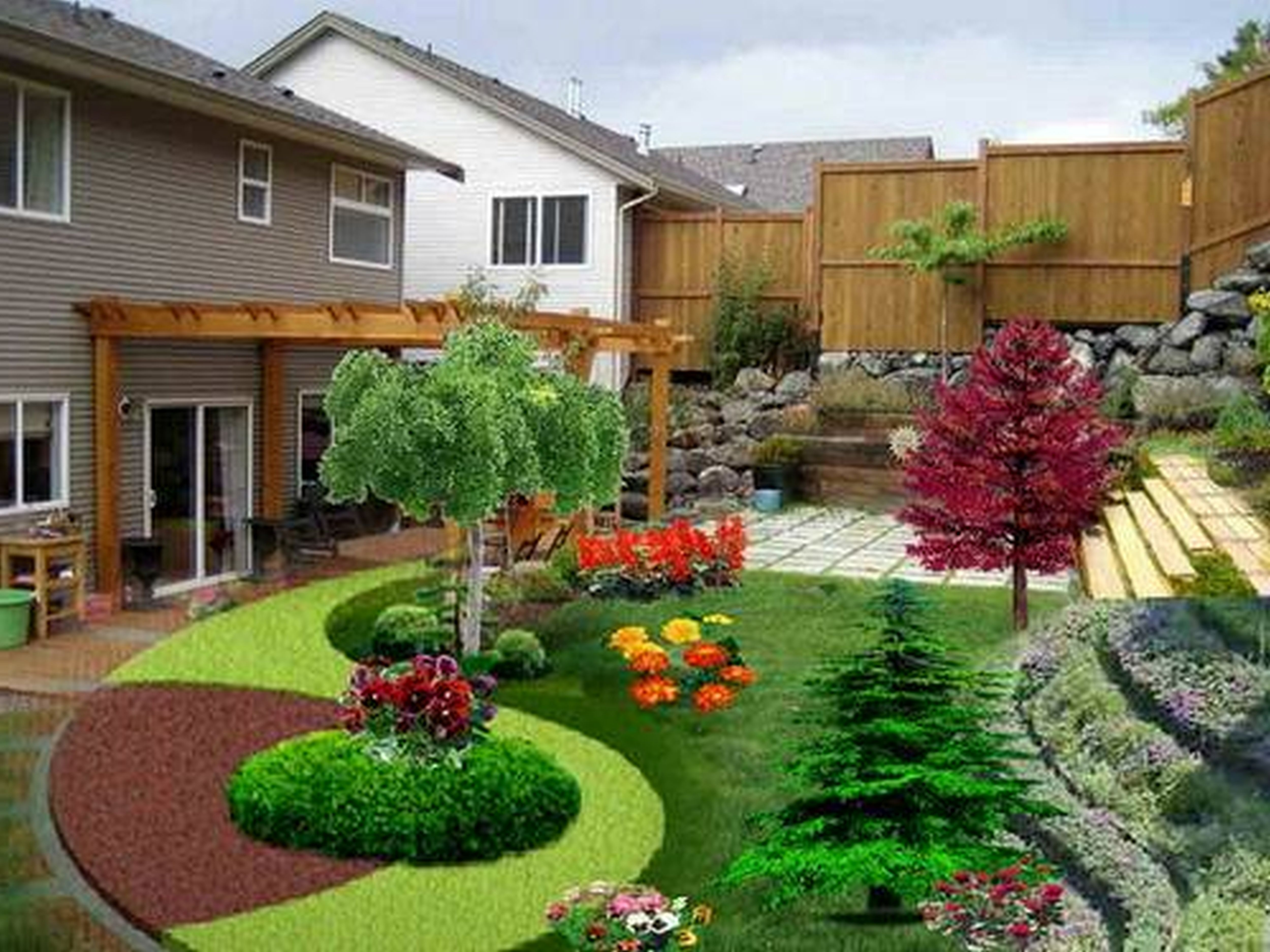 adorable landscaping ideas for small backyards character on most beautiful backyard landscaping ideas id=45984
