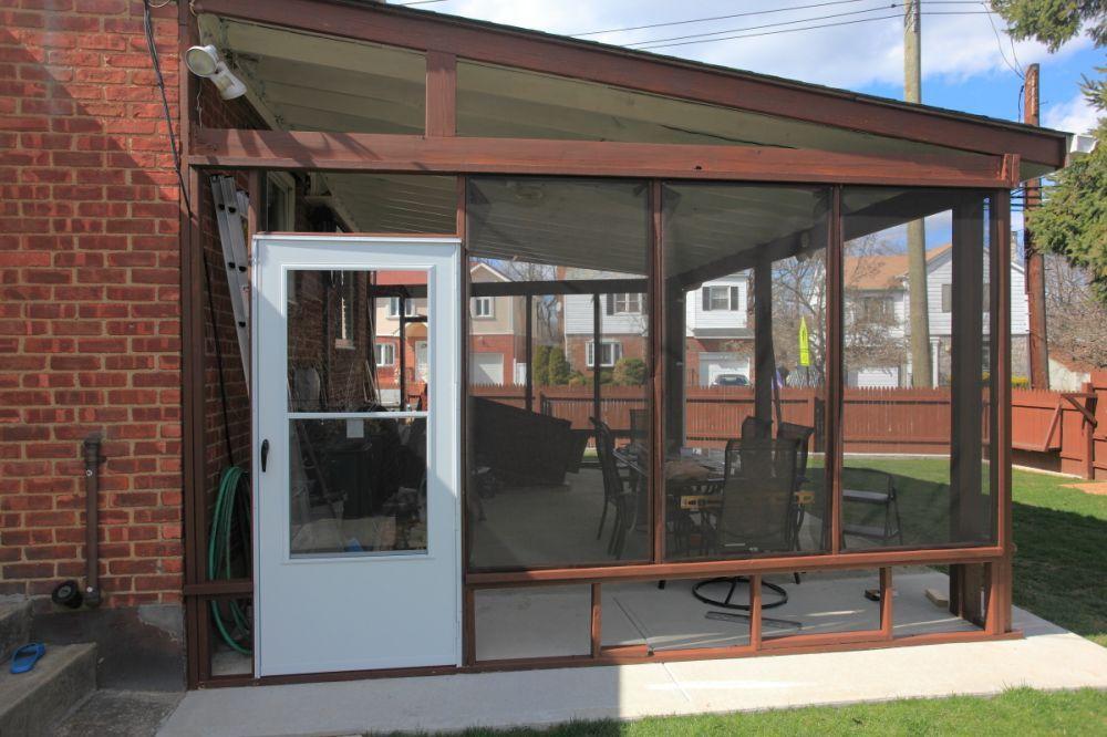 DIY enclosed patio | Garden | Pinterest | Enclosed patio ... on Enclosed Back Deck Ideas id=85417