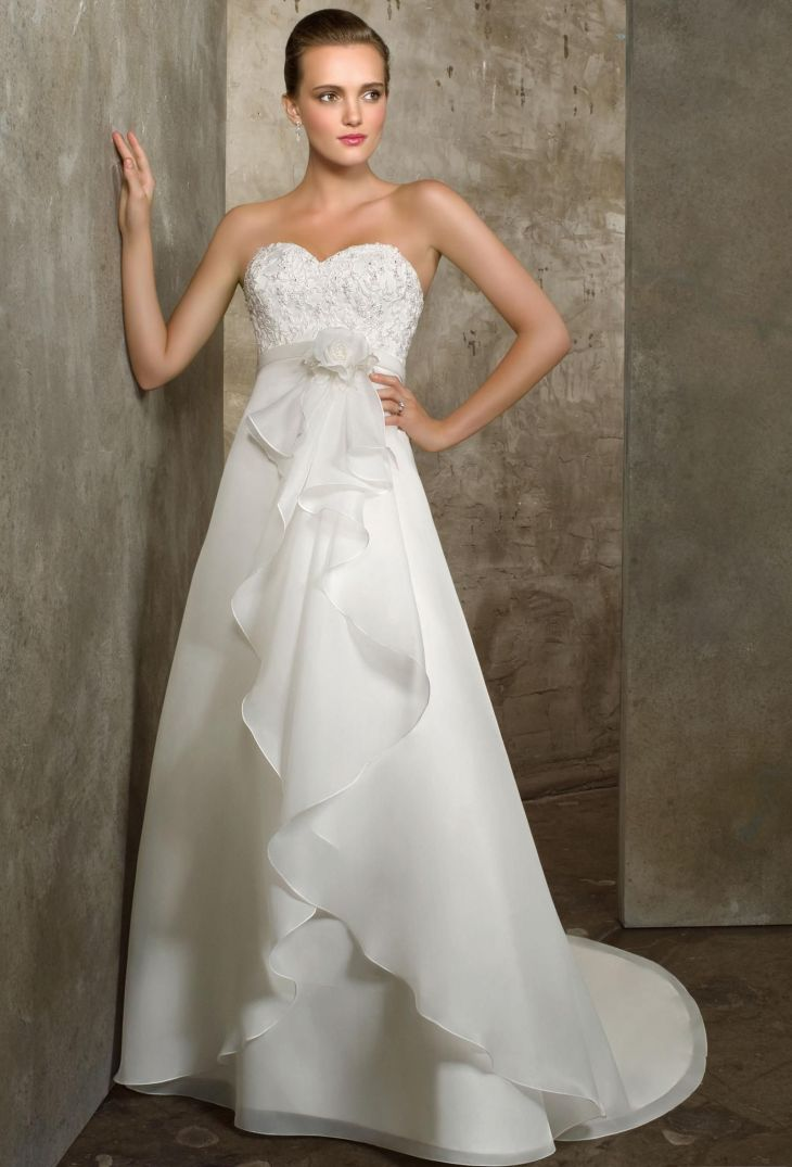 Empire Sweetheart Chapel Bridal Gown Empire Waist Wedding Dresses